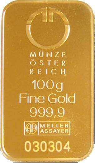 Goldbarren Münze österreich 100 G