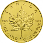 Maple Leaf 1/2 Unze Gold